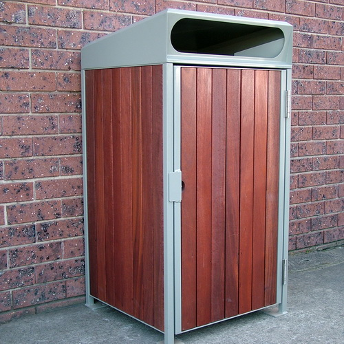 AMPS-900 Timber Clad Wheeled Bin Enclosure