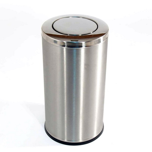 AMPS-L345 SS Swing Top Round Bin