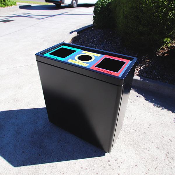 AMPS-88922 Triple Bin Recycle Station